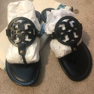 New In Box Tory Burch Miller Sandals Size 9
